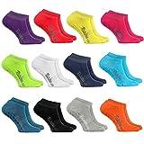 Rainbow Socks - Mujer Hombre - Calcetines Cortos Antideslizantes - 12 pares - Multicolor - Tamaños: EU 39-41