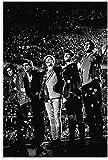 Toile Peinture 60 * 90cm sans Cadre Affiche de Concert Noir et Blanc One Direction et Photo d'art Mural décor de Chambre familiale Moderne