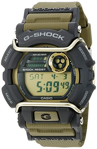 Casio Men's Quartz Resin Automatic Watch, Color:Green (Model: GD-400-9CS)