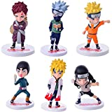 VNNY 6 unids/Set Naruto Anime Doll 20 Generaciones PVC Figura de acción Modelo Juguetes Uzumaki Naru...