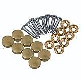 BQLZR 12mm Dia Golden Home Decor Armadi Arredamento per mobili Specchio decorativo da tavo...