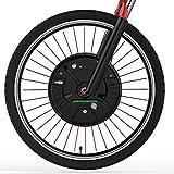 OANCO 36V 350W IMortor Wheel MTB Road Bike Front Motor Wheel,con USB App Kit De Conversión De Bicicleta Eléctrica E Bike Kit Bicicleta Eléctrica (Color : Disc Wire Control, Size : 27.5 in)