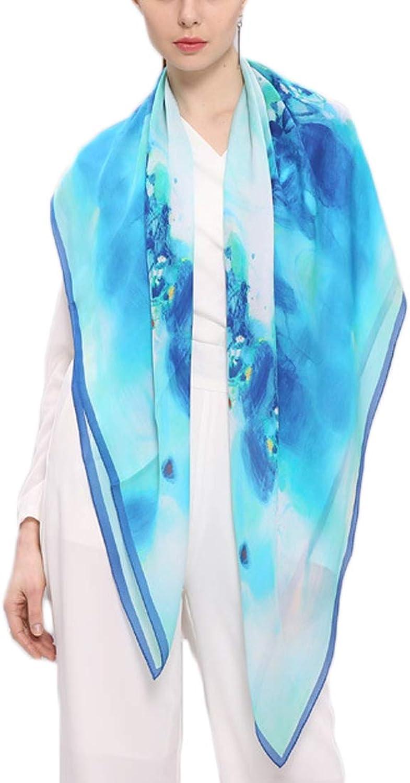 YUKILO Scarf Women Sunscreen Towel Air Conditioner Shawl Light Beautiful Long Scarf (color   1, Size   115x115CM)