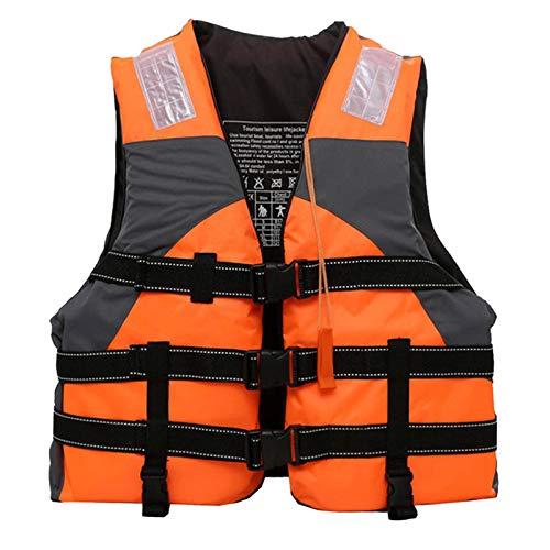 N-B Chaleco Salvavidas para niños Adultos Silbato Chaleco de flotabilidad Chaleco de natación portátil Chaqueta de Deportes acuáticos