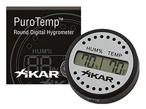 Xikar Luftbefeuchter rund Hygrometer digital
