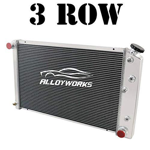 3 Row Full Aluminum Radiator For 1968-1973 Chevy Chevelle / 1971-1990 El Camino Caprice / 1971-1990 Chevy(GMC) C/K/G/P Series 10 20 30 40 15 25 35 1500 2500 3500 Pickup Suburban