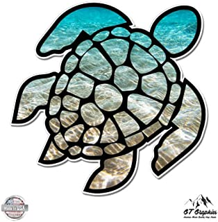 GT Graphics Sea Turtle Beach Ocean - Vinyl Sticker Waterproof Decal