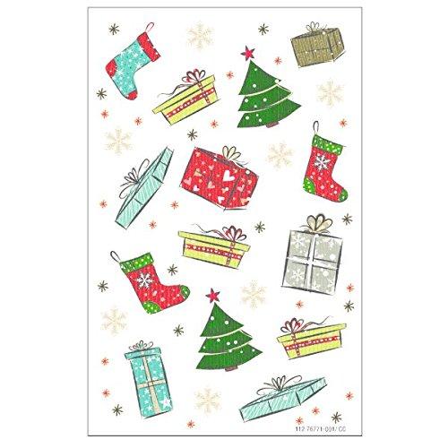 Susy Card 40002552 Sticker, selbstklebend, Bogengröße 8 x 12, 5 cm, 3 Bogen Eingeschweißt, Motiv: Xmas Figuren 6