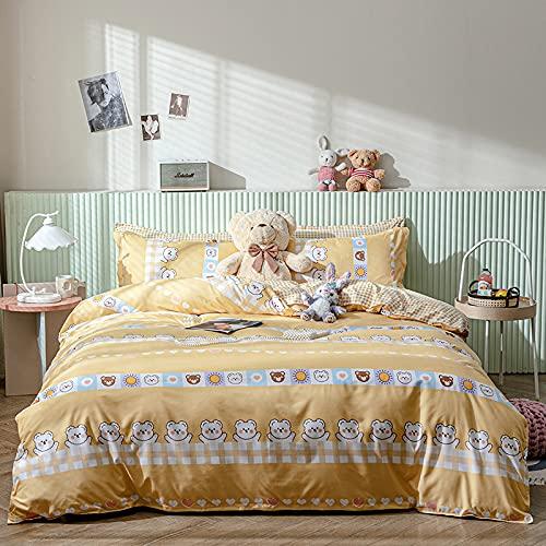 CCBAO Ropa De Cama Textiles para El Hogar Funda Nórdica Funda De Almohada Cremallera Invisible Conveniente Y Fácil De Limpiar 220x240cm