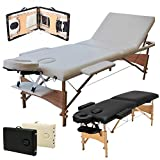 Best Portable Massage Tables - Portable 3 Section Wooden Massage Table Lightweight Adjustable Review