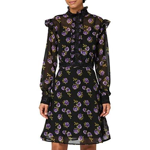 Marchio Amazon - TRUTH & FABLE Vestito Elegante Donna, Nero (Black MPR346B), 48, Label: XL