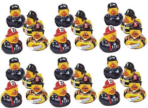 Lot Of 24 Firefighter Fireman Fire Fighter Hero Rubber Ducks Duckys