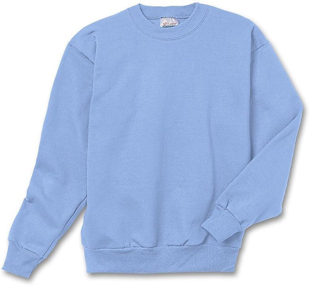 Hanes Youth ComfortBlend EcoSmart Crewneck Sweatshirt_Pale Pink