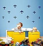HNXDP 2017 Nuevo 13 PC/set pegatina de pared avión niño niño guardería decoración de la pared arte hogar pegatinas de pared calcomanías vestido de vinilo F0 5PCS