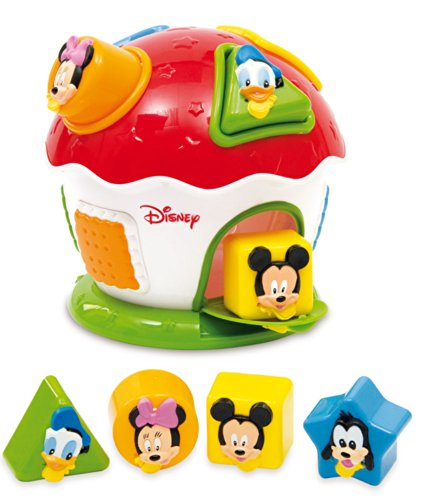 Clementoni - 14259 - Jouet Premier Age - Bébé Disney - La Boite à Formes Et Couleurs Mickey