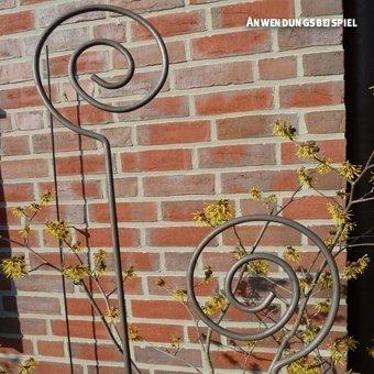 Videx-Pflanz- und Zierstab Spirale, Roheisen, Höhe 150cm