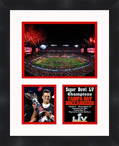 Tampa Bay Super Bowl LV Champions Framed 11 x 14 Matted Collage Framed Photos Ready to Hang