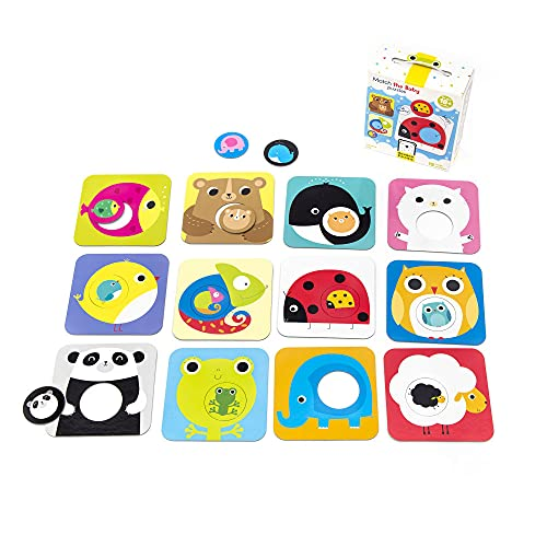 Banana Panda Match The Baby Puzzle Set, Beginner Puzzles & Matching Activity For Kids Ages 18 Months & Up, Multicolor, (Model: 33683)