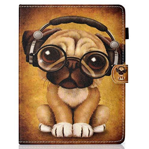 Coopay Universal Hülle für 10 Zoll,Bunt Tier Katze Hund Elefant Marmor Junge Damen Muster Ständer Ledertasche,Bookstyle Tasche Cases Cover Schutzhülle kompatibel mit Samsung Huawei iPad 10