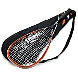 Pro Impact Graphite Squash Racket - Full Size with Carry On Cover and Durable Strings - Made of Pure...
