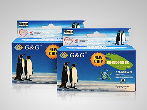 G&G Remanufactured Ink Cartridge Replacement for HP 564XL CN684WN (Black High-Yield) 2-Pack
