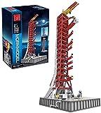 Technik 12che DIY kit de modelo de lanzacohetes compatible con 3586 piezas,compatible con Lego Idea NASA Apollo Saturn V 21309 A
