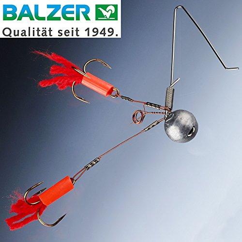 Balzer Spinnsystem für Köderfische - Köderfischsystem Zum Spinnangeln auf Hechte, Zander & Barsche, Hechtmontage Zum Spinnfischen, Größe/Gewicht:Gr. 1/12.5g