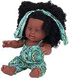 hsj LF - Weiche Babypuppe, künstliche Neugeborene, Vinyl, lebensecht, Ganzkörper-Puppe, interaktives Spiel-Spielzeug für Kleinkinder, Jungen und Mädchen, zum Trainieren (Farbe: grünes Blumenmuster)