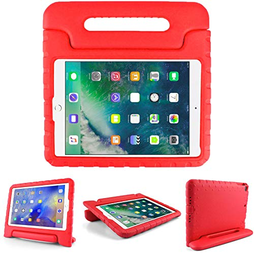 Kids Friendly Case for LG G Pad X 8.0(AT&T T-Mobile V520/V521), Light-Weight EVA Soft Foam Durable Rugged Shockproof Kidsproof Foldable Convertible Handle Kickstand Cover for Teenagers - Red
