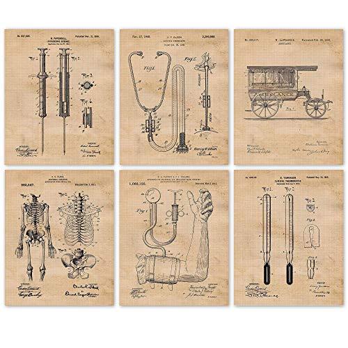 Vintage Medicine Patent Poster Prints