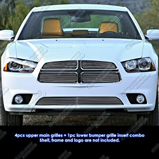 APS Compatible with 2011-2014 Dodge Charger Billet Grille Grill Insert Combo D61108A