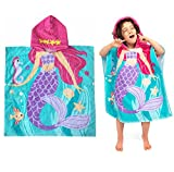 HausFine Poncho albornoz con Capucha de playa y piscina, Toalla Poncho de baño con Capucha Para Niñas Niños Bebé 100% Algodón (B, 60 x 70 CM)