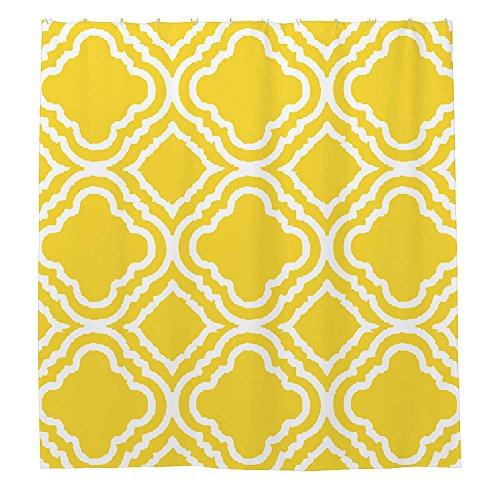 zichuangd hellgelb Marokkanische Vierpass-Muster Vorhang für die Dusche