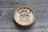 Cuscino anelli matrimonio Cuscino Fedi Portafedi Anello Portatore Personalizzato Nomi e Data Matrimonio rustico elegante decorazioni Cuscino per anello' Uccelli di amore','Love Birds'