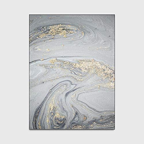 WIVION Moderne Abstrakte Kunst Teppiche Aquarell Meerwasser Grau Marmor Muster Teppich Und Teppich Wohnzimmer Schlafzimmer Nachttisch Sofa Fußmatten,60 * 90cm(24x35inch)
