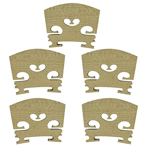 PsmGoods Full Size 4/4 Violino Maple ponte Violin Parts-5 Pack