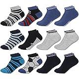 MC.TAM® Herren Jungen Bunte Sneaker Socken 12 Paar 90prozent Baumwolle Oeko Tex® Standard 100, 35-38, 12 Paar Jungen Sneaker