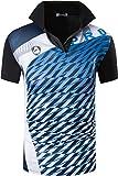 jeansian Hombres Deportes Polo Shirt Poloshirt tee T-Shirt Tshirts Golf Tenis Badminton LSL280 Black XXL