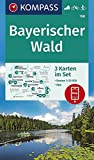 KOMPASS Wanderkarte Bayerischer Wald: 3 Wanderkarten 1:50000 im Set inklusive Karte zur offline Verwendung in der KOMPASS-App. Fahrradfahren. Skitouren. (KOMPASS-Wanderkarten, Band 198) - KOMPASS-Karten GmbH