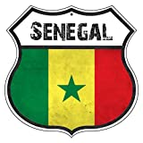 St574ony Vintage Road Tin Signs Senegal Country Nation Flag