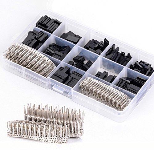 MRCARTOOL 620 Stück Dupont Stecker Kit, mit 2,54mm Männlich Weiblich Dupont Stift Stecker, Dupont Buchse Anschluss Gehäuse Crimpen Steckverbindergehäuse