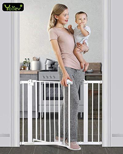 Ycozy BabySafe ペットゲート 子供安全ゲート 鉄製ゲート 寝室/キッチン/階段/玄関/ベランダ 子供(6ヶ月~...