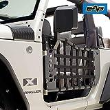 EAG Matrix Tubular Door with Side View Mirror Fit for 07-18 Wrangler JK 2 Door Only