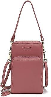 Damen Handtaschen Schultertasche Damen Handytaschen Umhängetasche Kunstleder Schultertasche 3 Reißverschluss Beutel mit Vi...