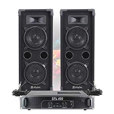 "2x MAX 2 x 6"" Speakers Mixer Power Amp Bedroom DJ Disco Party PA Hi-Fi 1200W"