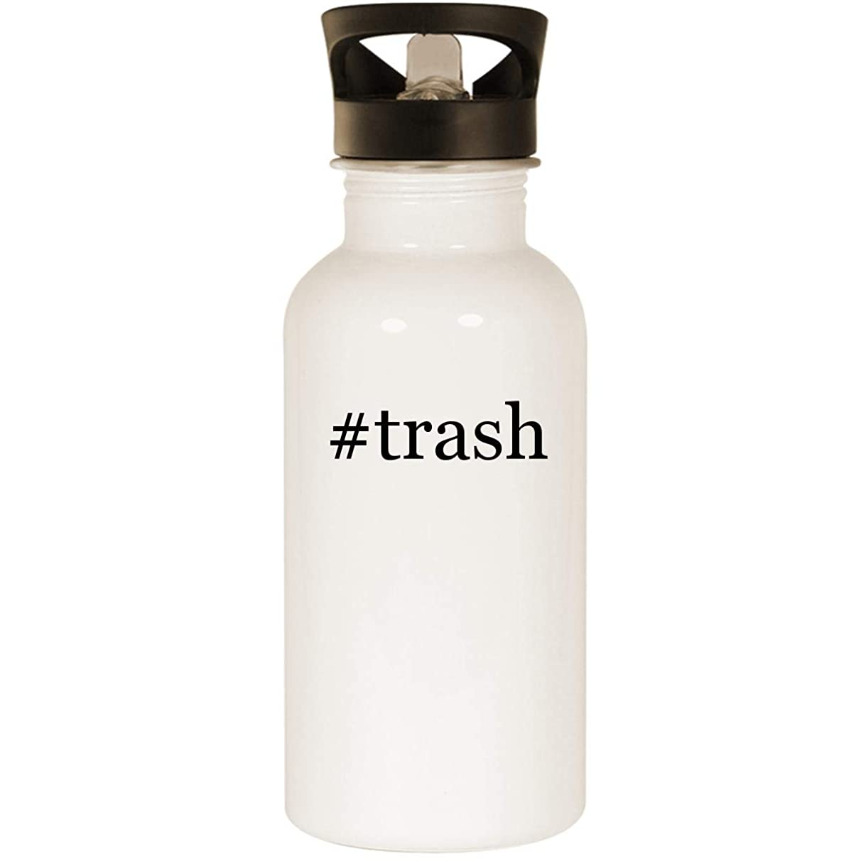 #trash - Stainless Steel Hashtag 20oz Road Ready Water Bottle, White