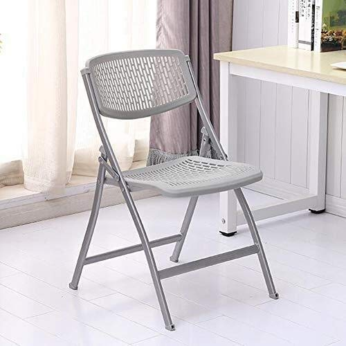 XYSQWZ Office Chair Folding, Home Portable Stool Steel Frame Reception Visitor Chair Plastic Backrest Seat