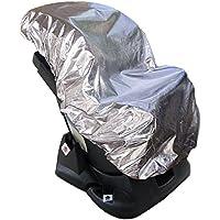Lictin 113 x 110cm Cubierta Universal para Silla de Coche 100% de Material Ecologico de Aluminio Cubierta de Polvo Calor Protector Solar UV Altamente Reflectante
