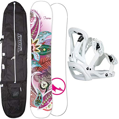 Unbekannt Damen Snowboard Set Trans LTD White 152 cm 2019 + FTWO Sonic BINDUNG GR. M + Bag