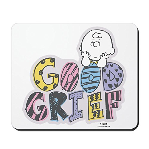 CafePress Charlie Brown Good Grief Non-Slip Rubber Mousepad, Gaming Mouse Pad